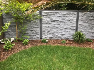 WaterFence Faux Rock Covering