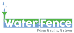 Waterfence | When It Rains, It Stores Logo